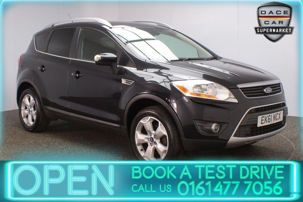 USED 2011 61 FORD KUGA 2.0 TITANIUM TDCI AWD 5DR 163 BHP FULL SERVICE HISTORY + HALF LEATHER SEATS + CRUISE CONTROL + CLIMATE CONTROL + MULTI FUNCTION WHEEL + RADIO/CD + ELECTRIC WINDOWS + ELECTRIC DOOR MIRRORS + ALLOY WHEELS