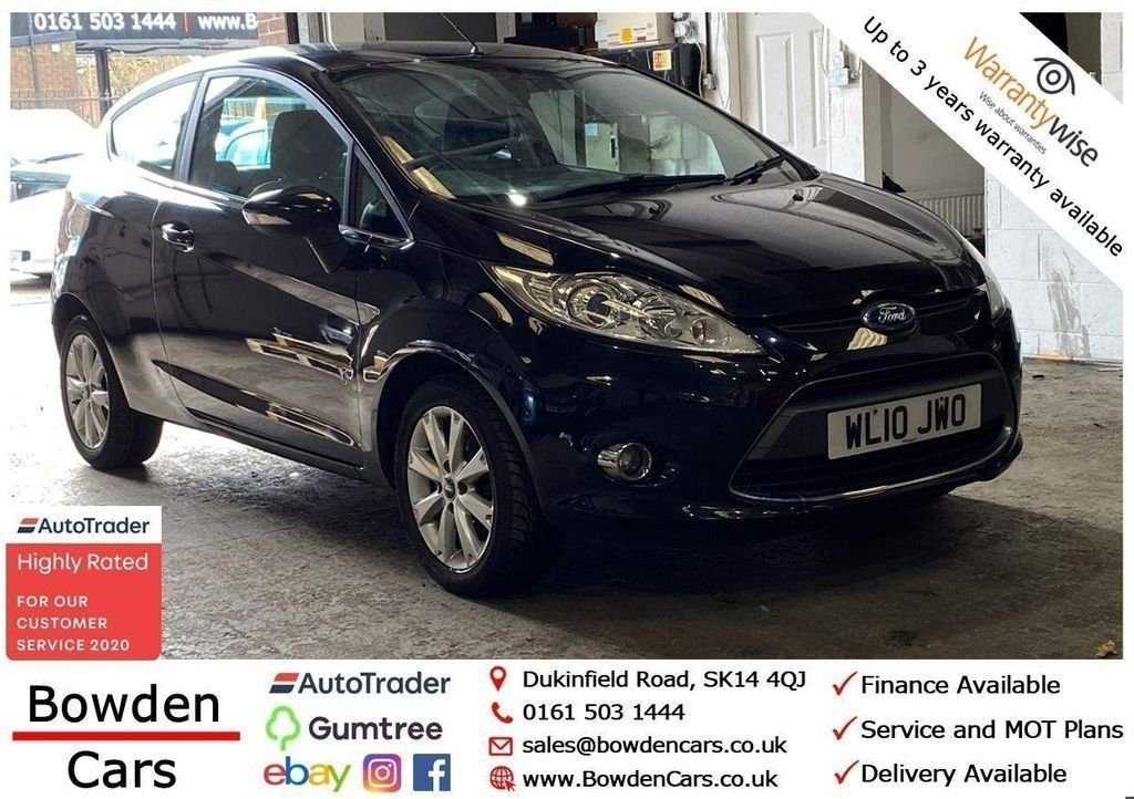 USED 2010 10 FORD FIESTA 1.2 ZETEC 3d 81 BHP **FREE NATIONWIDE DELIVERY**
