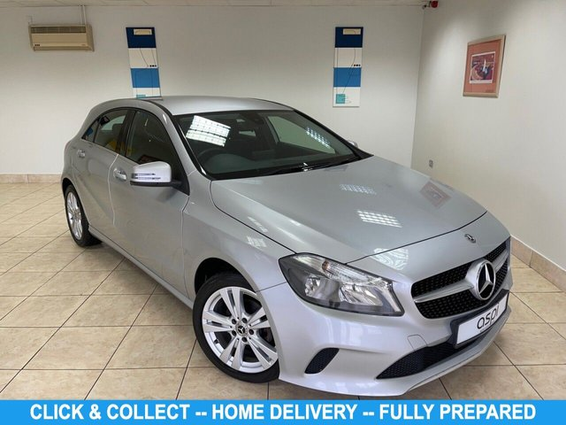"""USED 2017 17 MERCEDES-BENZ A-CLASS 1.5 A 180 D SPORT 5d 107 BHP BLACK ANTHRACITE LEATHER, SAT NAV PREP, MEDIA DISPLAY, AIR CON, SMARTPHONE INTEGRATION PK, SMARTPHONE INTEGRATION APPLE CARPLAY, REAR VIEW CAMERA WITH 180 DEGREE VIEW, LIVE TRAFFIC CAPABILITY, CRUISE CONTROL, ATTENTION ASSIST, KEYLESS, CCOMFORT SEAT PK, 17"""" 5 TWIN SPOKE ALLOY WHEELS, ACTIVE BRAKING ASSIST, MERCEDES CONNECT ME, AUTO DIM INTERIOR & EXTERIOR MIRROR, RAIN SENSOR,  E CALL EMERGENCY CALL SYSTEM, REAR PRIVACY GLASS, LOW MILEAGE"""