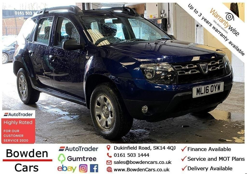 USED 2016 16 DACIA DUSTER 1.5 AMBIANCE DCI 5d 109 BHP **FREE NATIONWIDE DELIVERY**