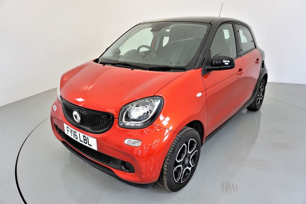 USED 2016 16 SMART FORFOUR 1.0 PRIME 5d-20 ROAD TAX-PANORAMIC ROOF-HEATED BLACK LEATHER-CRUISE CONTROL