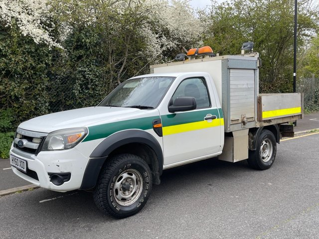 USED 2010 60 FORD RANGER 2.5TDCI XL 4X4 143 BHP SINGLE CAB DROPSIDE PICK UP WITH TOOL BOX DIRECT COUNCIL+TOOL BOX+
