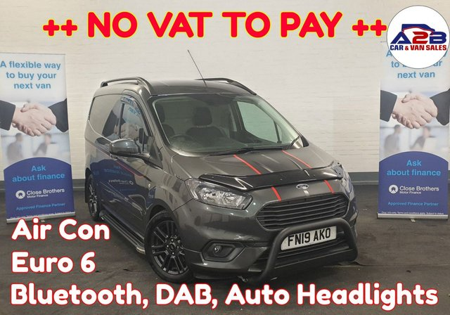 USED 2019 19 FORD TRANSIT COURIER 1.5 SPORT TDCI ++ NO VAT ++ Bluetooth, Air con, Auto Headlights, Alloys, Electric Windows, Electric Mirrors and much more ... ++++ NO VAT TO PAY ++++