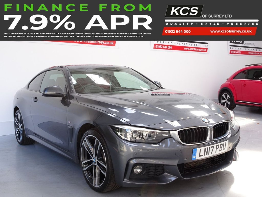 USED 2017 17 BMW 4 SERIES 2.0 420D XDRIVE M SPORT 2d 188 BHP PRO NAV -HEAD UP- M-PLUS PACK