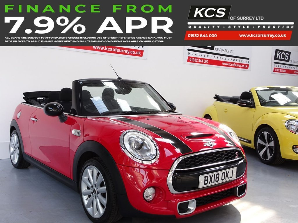 USED 2018 18 MINI CONVERTIBLE 2.0 COOPER S 2d 189 BHP CHILI PACK-MEDIA XL-TECH PACK