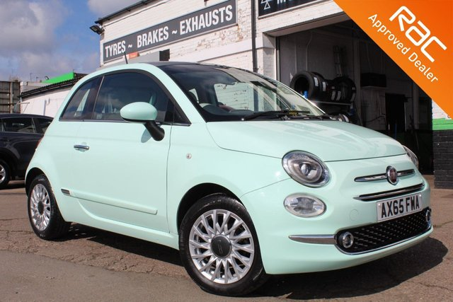 USED 2016 65 FIAT 500 1.2 LOUNGE 3d 69 BHP VIEW AND RESERVE ONLINE OR CALL 01527-853940 FOR MORE INFO.