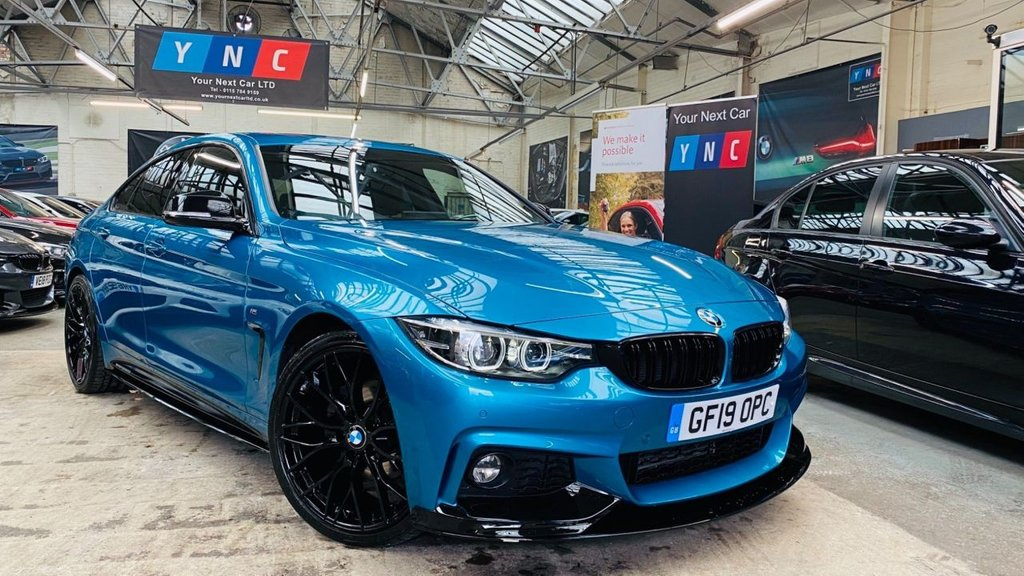 USED 2019 19 BMW 4 SERIES 2.0 420d M Sport Gran Coupe Auto (s/s) 5dr PERFORMANCEKIT+20S+SNAPPERBLUE