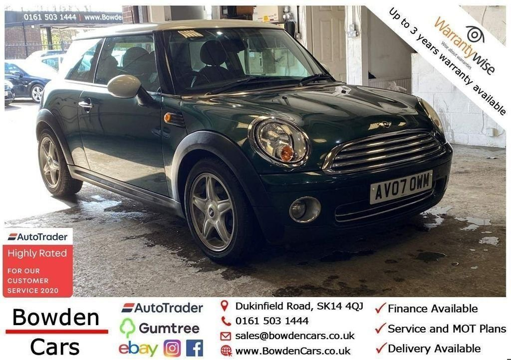 USED 2007 07 MINI HATCH COOPER 1.6 COOPER 3d 118 BHP **FREE NATIONWIDE DELIVERY**