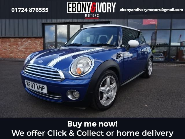 USED 2007 07 MINI HATCH COOPER 1.6 COOPER 3d 118 BHP + FULL SERVICE HISTORY + 1 YEAR MOT AND BREAKDOWN COVER