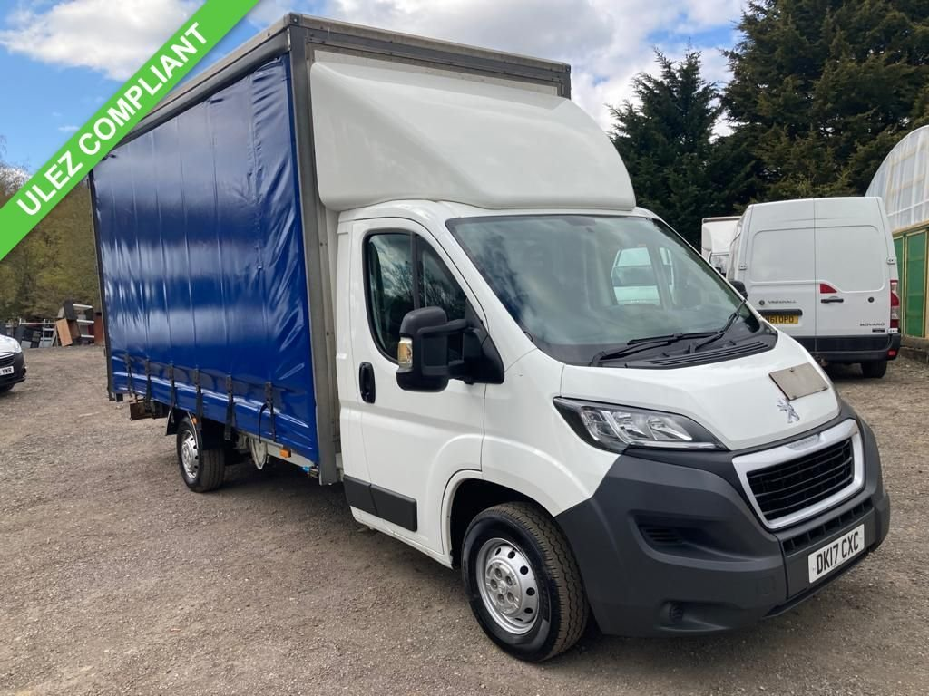 USED 2017 17 PEUGEOT BOXER 2.0 BLUE HDI 335 L3 C/C 130 BHP LUTON CURTAIN SIDER