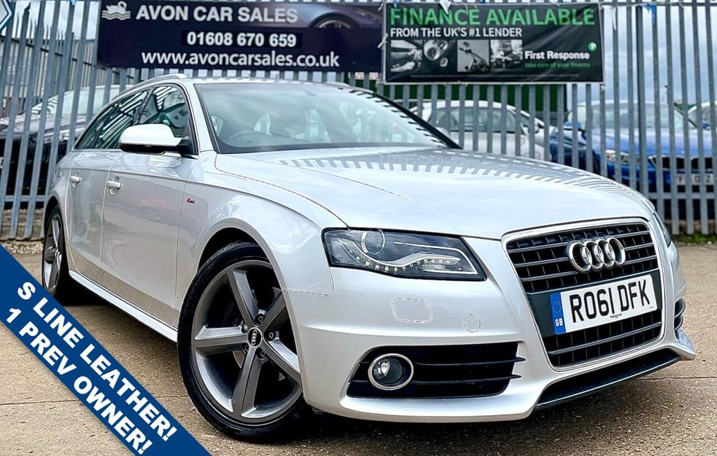 USED 2011 61 AUDI A4 2.0 AVANT TDI S LINE SPECIAL EDITION 5d 141 BHP AUTOMATIC! - 1 PREV OWNER! 5 SERVICE STAMPS! 2 KEYS! S LINE LEATHER INTERIOR!
