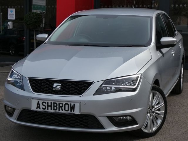 USED 2017 67 SEAT TOLEDO 1.0 TSI XCELLENCE 5d 110 S/S FULL SERVICE HISTORY, SAT NAV, DAB, FRONT + REAR PARKING SENSORS W/ DISP, FULL LED HEADLIGHTS W/ LED DRLS, 17 INCH TWIN 10 SPOKE ALLOYS, BLUETOOTH W/ AUDIO STREAMING, DIGITAL CLIMATE A/C, BLACK LEATHER ALCANTARA INTERIOR, LEATHER FRONT + REAR ARM RESTS, LEATHER MULTIFUNCTION STEERING WHEEL, USB + AUX IN, CD + SD X2, CRUISE, VOICE CONTROL, GLOSS BLACK INTERIOR TRIMS, AUTO DIMMING REAR VIEW MIRROR, FRONT FOGS, TYRE PRESSURE MONITORING SYS, STEEL SPARE WHEEL, ELEC ADJUST HEATED MIRRORS,ELEC WINDOWS