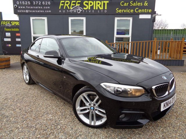 USED 2014 14 BMW 2 SERIES 2.0 220d M Sport (s/s) 2dr Bluetooth, Leather, DAB