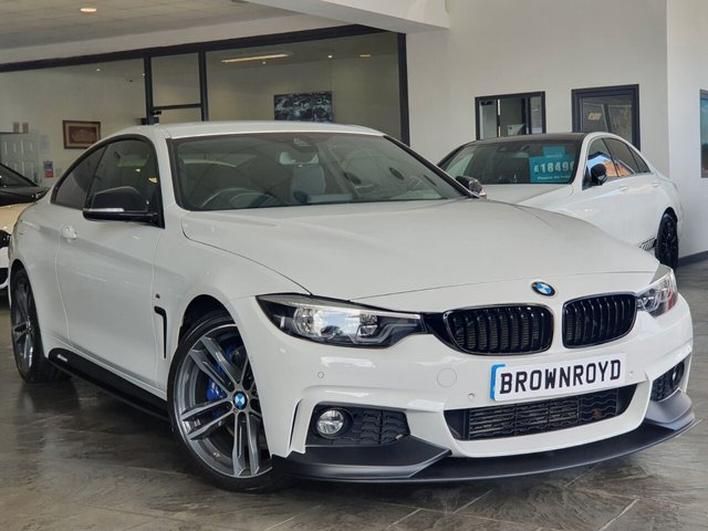 USED 2017 17 BMW 4 SERIES 3.0 430D M SPORT 2d 255 BHP BM PERFORMANCE STYLING+6.9%APR