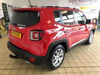 USED 2016 16 JEEP RENEGADE 1.6 M-JET LIMITED 5d 5 Seat Family SUV with Massive High Spec including Front and Rear Parking aids Bluetooth Sat Nav Heated Seats Cruise Contol Ready to Finance & Drive Away Today  LOOKING INCREDIBLE IN COLORADO RED MAKES THIS JEEP UNIQUE INSIDE AND OUT!
