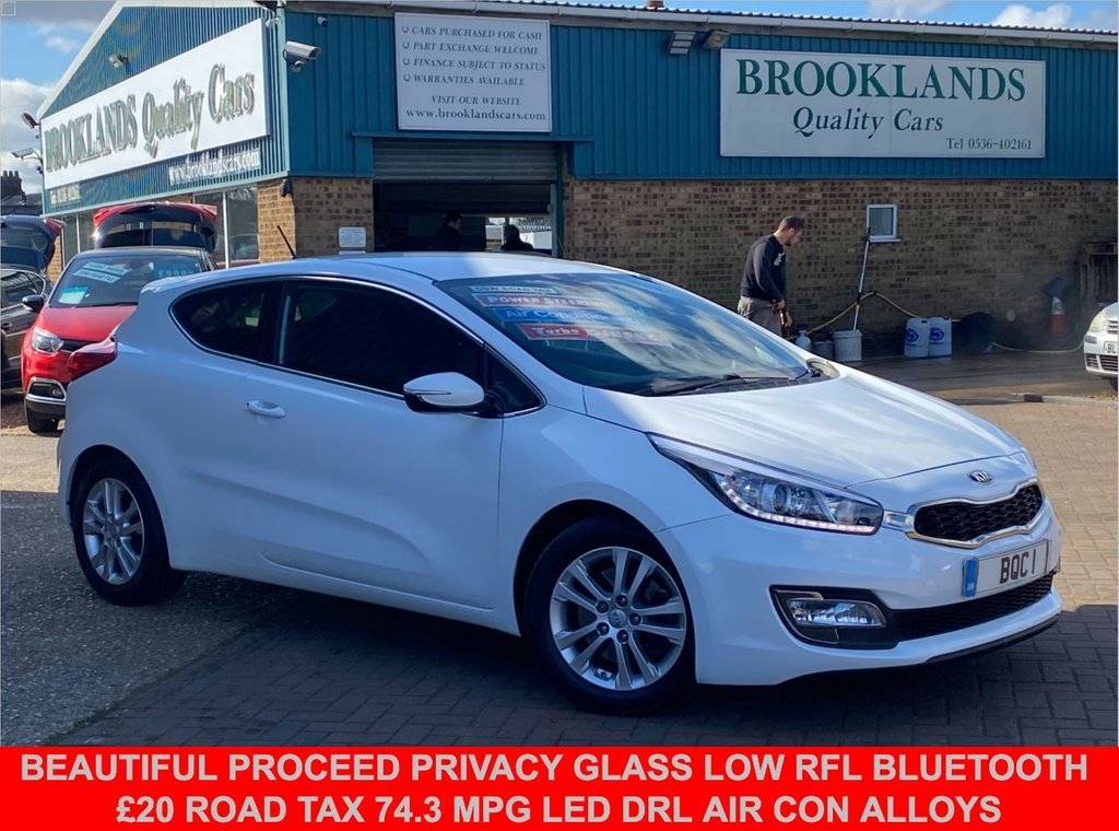 USED 2014 64 KIA PRO CEED 1.6 CRDI S ECODYNAMICS Fusion White Only 51119 miles 126 BHP Beautiful ProCeed Privacy Glass ZERO RFL Bluetooth Air Con Alloys