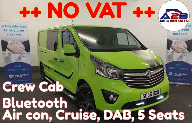 USED 2016 66 VAUXHALL VIVARO 1.6 2900  CDTI SPORTIVE ECOFLEX ++ NO VAT++ ++LONG WHEEL BASE ++ Bluetooth , Air con, Stop start, Cruise,Electric windows, Electric Mirrors and much more ... ++++ NO VAT TO PAY ++++