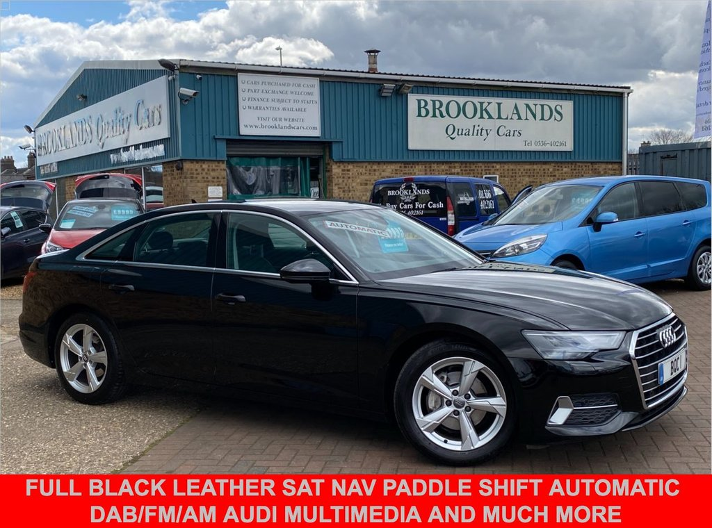 USED 2018 68 AUDI A6 2.0 TDI S-Tronic SPORT 4 Door Brilliant Black 202 BHP Full Black Leather Sat Nav Paddle Shift AUTOMATIC DAB/FM/AM Audi Multimedia and much more