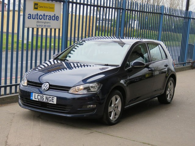 USED 2016 16 VOLKSWAGEN GOLF 1.6 MATCH EDITION TDI BMT 5dr 109 Sat nav Bluetooth & audio Front & rear park sensors Cruise Finance arranged Part exchange available Open 7 days