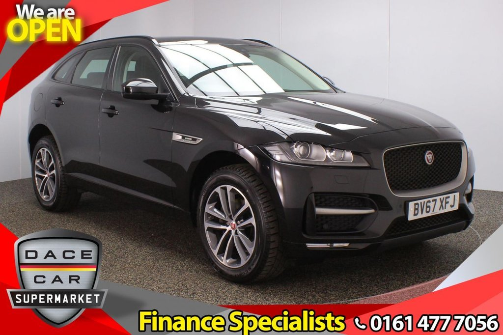 USED 2017 67 JAGUAR F-PACE 2.0 R-SPORT 5DR 1 OWNER 161 BHP FULL SERVICE HISTORY + HEATED LEATHER SEATS + SATELLITE NAVIGATION + PARKING SENSOR + BLUETOOTH + CRUISE CONTROL + CLIMATE CONTROL + MULTI FUNCTION WHEEL + DAB RADIO + LANE ASSIST SYSTEM + ELECTRIC WINDOWS + ELECTRIC DOOR MIRRORS + 19 INCH ALLOY WHEELS