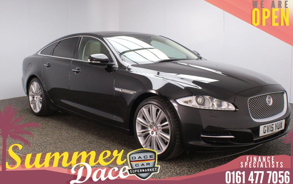 USED 2015 15 JAGUAR XJ 3.0 D V6 PORTFOLIO 4DR AUTO 275 BHP FULL SERVICE HISTORY + AIR CON LEATHER SEATS + SATELLITE NAVIGATION + DOUBLE SUNROOF + REVERSING CAMERA + PARKING SENSOR + BLUETOOTH + CRUISE CONTROL + CLIMATE CONTROL + MULTI FUNCTION WHEEL + ELECTRIC/MEMORY FRONT SEATS + PRIVACY GALSS + XENON HEADLIGHTS + DAB RADIO + ELECTRIC WINDOWS + ELECTRIC/HEATED/FOLDING DOOR MIRRORS +20 INCH ALLOY WHEELS