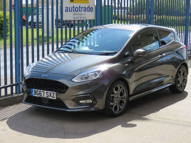 USED 2018 67 FORD FIESTA 1.0 ST-LINE 3d 124 BHP. 1 Owner-Service History-Apple Car Play/Android Auto. Privacy Glass, Sat Nav Sat Nav-Rear Privacy Glass-Alloy Wheels-Rear Spoiler-Apple/Android Car Play