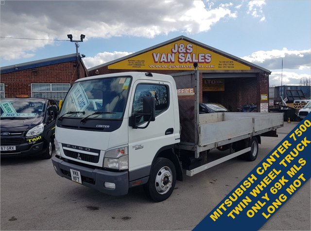 USED 2011 11 MITSUBISHI FUSO CANTER 3.0 75 DAY 7C18 180 BHP EXTRA L.W.B DROPSIDER  WATCH FULL H/D VIDEO ALL INFO