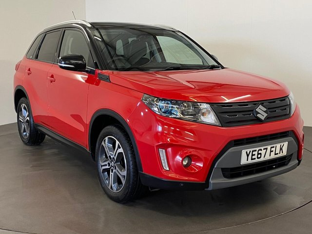 USED 2017 67 SUZUKI VITARA 1.6 SZ5 5d 118 BHP Extremely well cared for and maintained 1.6 SZ5 5door  gloss red with gloss black accents, full panoramic roof, media navigation,  very high specification