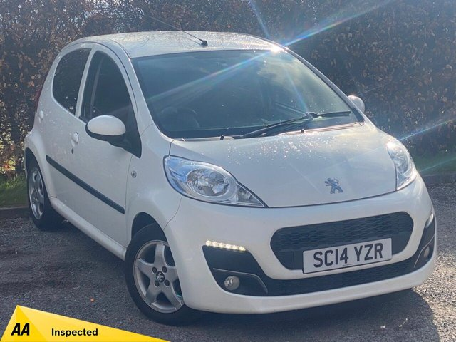 USED 2014 14 PEUGEOT 107 1.0 ALLURE 5d LOW MILEAGE, RECENTLY SERVICED, 12 MONTHS MOT, BLUETOOTH, PRIVACY GLASS, ALLOY WHEELS