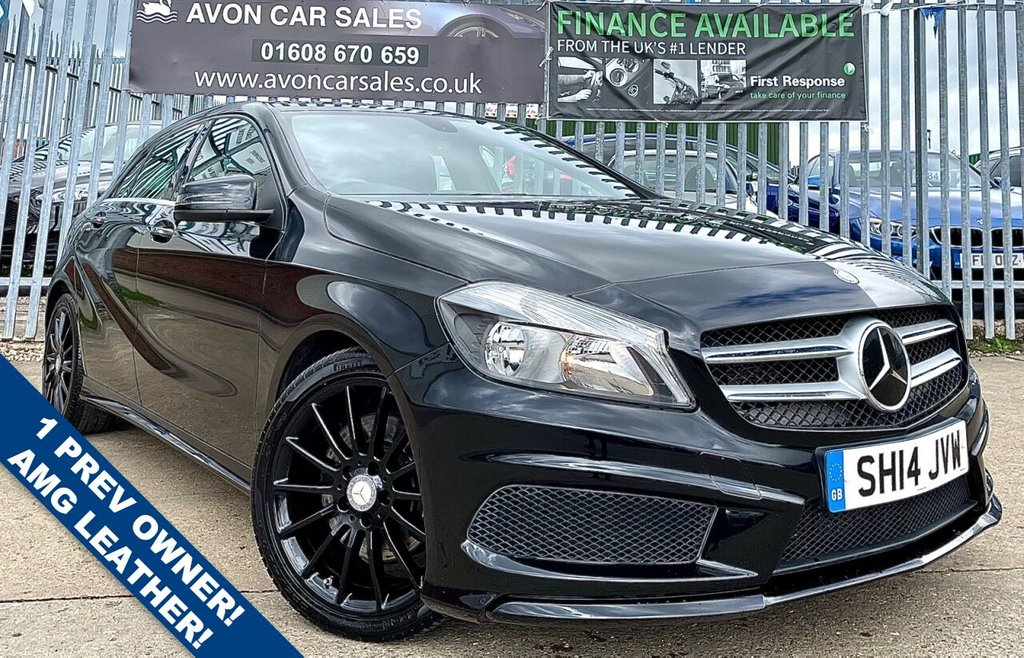 USED 2014 14 MERCEDES-BENZ A-CLASS 2.1 A220 CDI BLUEEFFICIENCY AMG SPORT 5d 170 BHP AUTOMATIC! - 1 PREV OWNER! �£20 ROAD TAX! AMG SPORTS LEATHER! BLUETOOTH! MERC SERV HISTORY! SAT NAV READY!