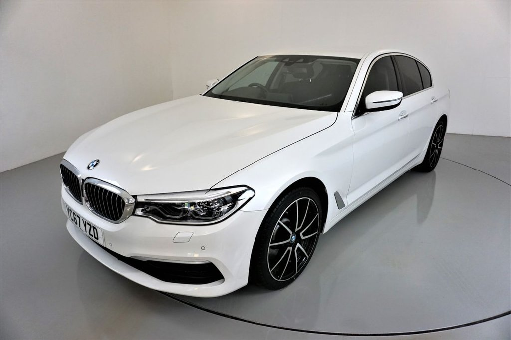 USED 2017 67 BMW 5 SERIES 3.0 530D XDRIVE SE 4d-MINERAL WHITE-AMBIENT LIGHTING-ELECTRIC FOLDING MIRRORS-ELECTRIC MEMORY SEATS-HEATED BLACK DAKOTA LEATHER-BLUETOOTH-CRUISE CONTROL-PROFESSIONAL NAVIGATION-REVERSE CAMERA-DAB RADIO-CLIMATE CONTROL