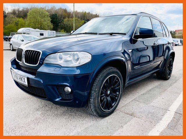 "USED 2011 61 BMW X5 3.0 XDRIVE30D M SPORT 5d 241 BHP GOOD SERVICE HISTORY - LAST FEB 2021 - MOT UNTIL FEB 2022 - PROFESSIONAL NAVIGATION - DEEP SEA BLUE METALLIC PAINT - NEVADA OYSTER LEATHER SEATS - HEATED SEATS - 19"" ALLOY WHEELS"