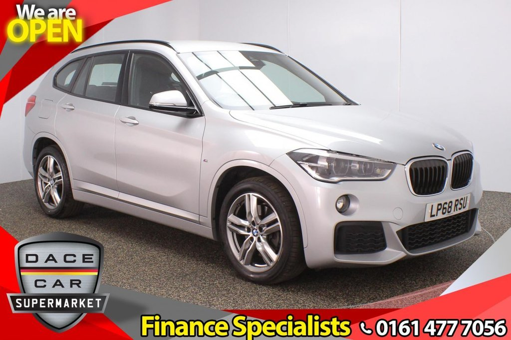 USED 2019 68 BMW X1 2.0 XDRIVE20D M SPORT 5DR 1 OWNER AUTO 188 BHP FULL BMW SERVICE HISTORY + HEATED LEATHER SEATS + SATELLITE NAVIGATION + PARKING SENSOR + BLUETOOTH + CRUISE CONTROL + CLIMATE CONTROL + MULTI FUNCTION WHEEL + LED HEADLIGHTS + DAB RADIO + ELECTRIC WINDOWS + ELECTRIC DOOR MIRRORS + 18 INCH ALLOY WHEELS