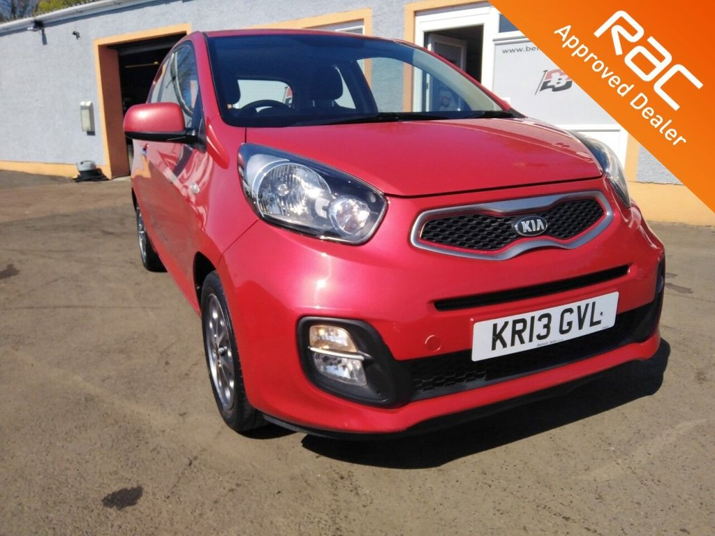 """USED 2013 13 KIA PICANTO 1.0 CITY 3d 68 BHP 14"""" Alloys, Bluetooth, Parking Sensors, AUX/ USB/ Ipod, 5 Service Stamps"""