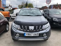 USED 2017 67 MITSUBISHI L200 2.4 DI-D 4WD BARBARIAN 4dr 5 Seat Double Cab Pickup with Massive High Spec NO VAT TO PAY Side Steps Towbar Rear Roll Bar Rock & Roll Cover Full Mitsubishi Service History Recent Service & MOT Rear Brakes Full Mitsubishi Service History