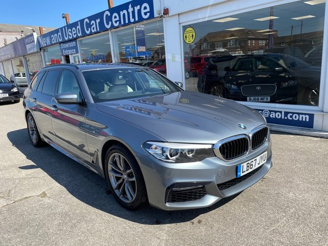 USED 2017 67 BMW 5 SERIES 2.0 520D M SPORT TOURING 5d 188 BHP 1 OWNER*LEATHER*NAV*BLUETOOTH*HEATED SEATS*DAB RADIO