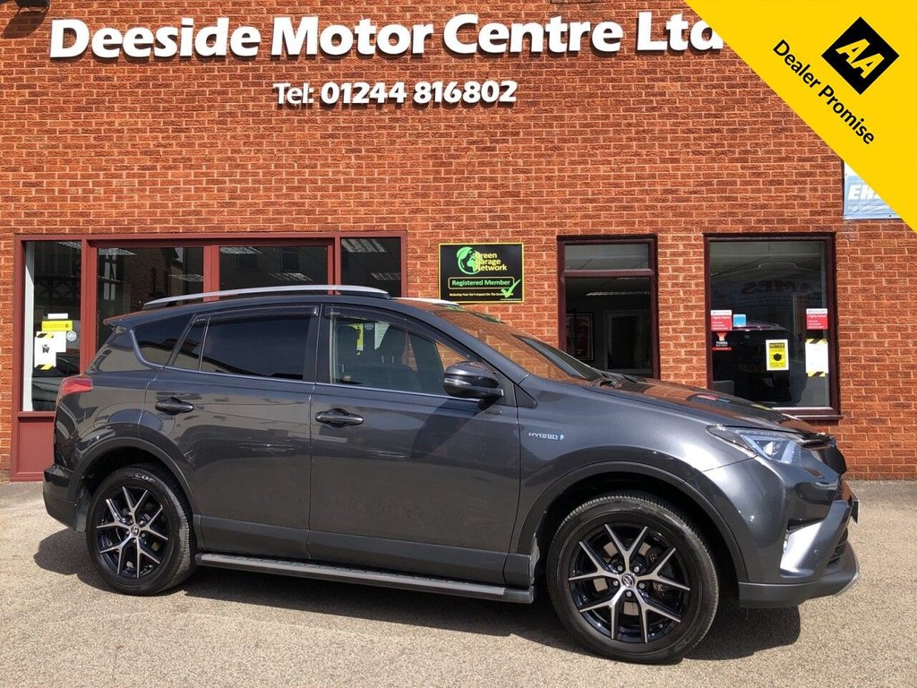 USED 2019 68 TOYOTA RAV4 2.5 VVT-I DESIGN 5d 198 BHP Full service history : Bluetooth : Sat Nav : DAB Radio : Part leather upholstery : Electric driver's seat : Heated front seats : Air-conditioning/Climate control : Cruise control/Speed limiter : Auto headlights/wipers : Lane Departure alert system : EV/ECO/SPORT modes : Rear view camera plus sensors : Remotely operated tailgate : Cargo/Load cover
