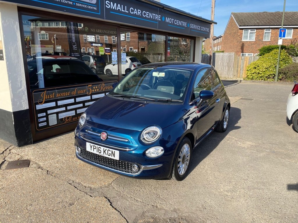 USED 2016 16 FIAT 500 1.2 LOUNGE DUALOGIC 3d 69 BHP APPLE CARPLAY - BLUETOOTH - USB - DAB - AUX - CRUISE CONTROL- REAR PARKING SENSORS