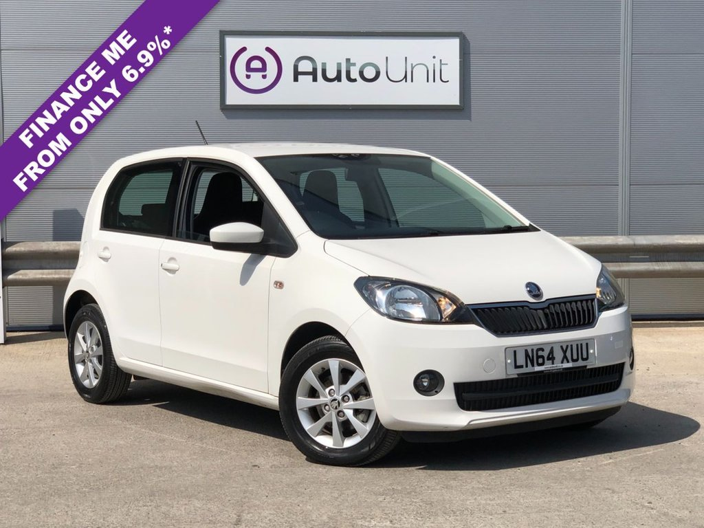 USED 2014 64 SKODA CITIGO 1.0 ELEGANCE 5d 74 BHP ONLY 6,520 MILES! + REAR PARKING SENSORS + HEATED FRONT SEATS + AIR CONDITIONING