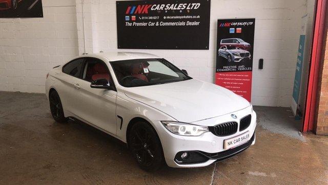 2016 66 BMW 4 SERIES 2.0 420D SPORT 2d 188 BHP RED DAKOTA LEATHERS SAT NAV HEATED FRONT SEATS