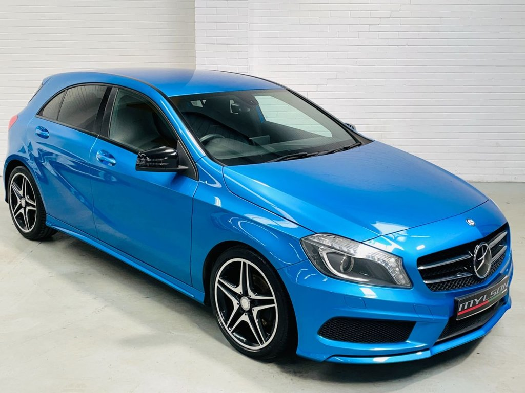 USED 2013 62 MERCEDES-BENZ A-CLASS 1.8 A200 CDI BLUEEFFICIENCY AMG SPORT 5d 136 BHP Stunning South Sea Blue with Night Pack