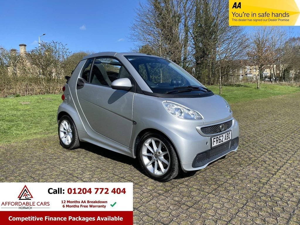 USED 2013 62 SMART FORTWO CABRIO 1.0 PASSION MHD 2d 71 BHP Full Service History, 2 Keys