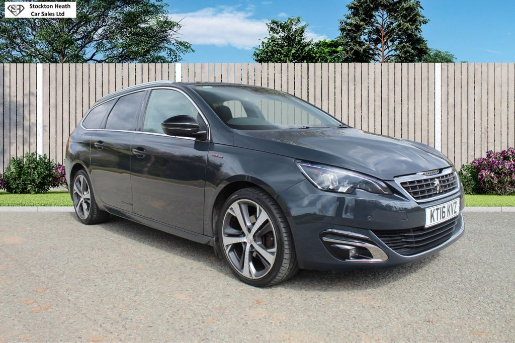 USED 2016 16 PEUGEOT 308 1.6 BLUE HDI S/S SW GT LINE 5d 120 BHP