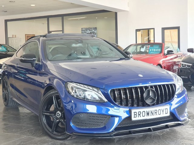 USED 2016 16 MERCEDES-BENZ C-CLASS 2.0 C 200 AMG LINE PREMIUM 2d 181 BHP BRM BODY STYLING+PAN ROOF