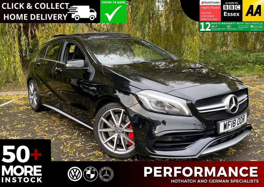 USED 2018 18 MERCEDES-BENZ A-CLASS 2.0 AMG A 45 4MATIC PREMIUM 5d 400 BHP STAGE 1 REMAP 400BHP & CERAMIC COAT & DETAIL