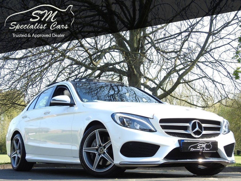USED 2018 18 MERCEDES-BENZ C-CLASS 2.1 C 250 D AMG LINE PREMIUM PLUS 4d 204 BHP HUGE SPEC PAN ROOF LEATHER 21K