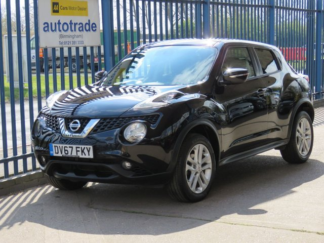 """USED 2017 67 NISSAN JUKE 1.5 ACENTA DCI 5d 110 BHP. 1 OWNER-PRIVACY GLASS-CLIMATE CONTROL-CRUISE CONTROL 1 OWNER-SERVICE HISTORY WITH 3 STAMPS-17 """"ALLOYS-PRIVACY GLASS-CRUISE-CLIMATE CONTROL"""