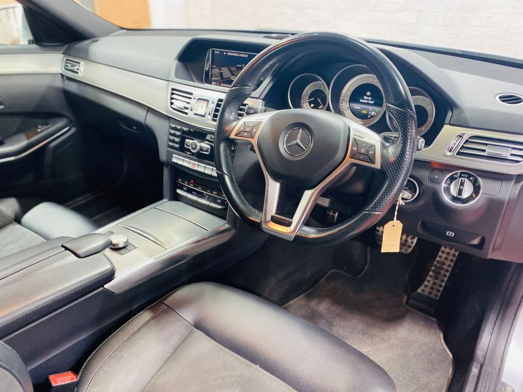 USED 2014 14 MERCEDES-BENZ E-CLASS 2.1 E220 CDI AMG SPORT 4d 168 BHP ONLY 2 PRE OWNERS FROM NEW - LONG MOT TILL MAR 2022 - WARRANTY & BREAKDOWN COVER INCLUDED