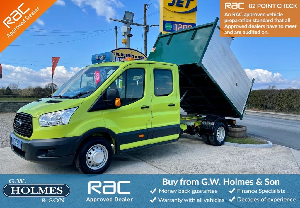 USED 2015 15 FORD TRANSIT 350 RWD DOUBLE CAB 7 SEAT 2.2 TDCI 125 BHP ARB TREE TIPPER **DIRECT COUNCIL**ONLY 60K**