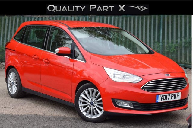 USED 2017 17 FORD GRAND C-MAX 2.0 TDCi Titanium Powershift (s/s) 5dr 7 SEAT,SATNAV,BLUETOOTH,SENSOR